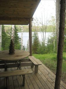 Photo for Secluded Lakefront Log Cabin Experience