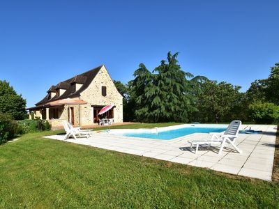 Photo for Wonderful holiday home on a large estate near Orliac (5 km), with private swimming pool