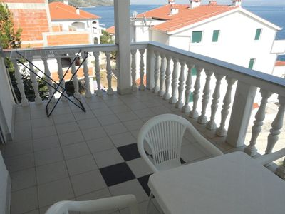 Photo for Two bedroom apartment with terrace and sea view Bušinci (Čiovo) (A-11232-d)