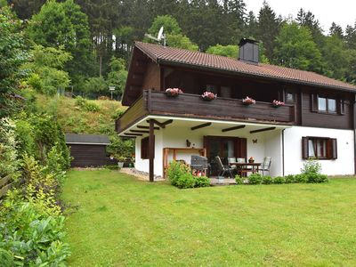 Photo for Detached holiday home in the Harz with open fireplace, terrace, balcony and garden