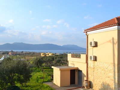 Photo for Sea-View Villa, 900m from Kavros