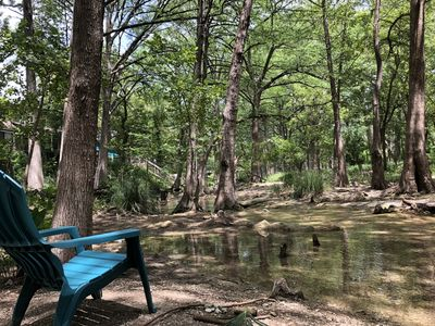 Photo for Darling Cottage Right on Cypress Creek - 1 Mile from the Wimberley Square