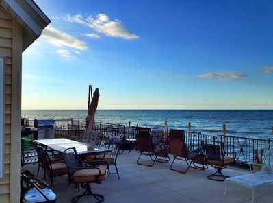 Panoramic Lake Ontario Front Deck with Grill, Seating, Fire Pit