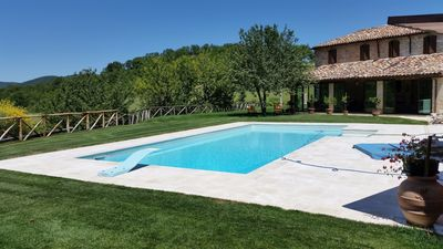 Photo for Stone villa, with private pool, immersed in the greenery of Frasassi Park.