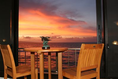 Spectacular sunset from the Lanai