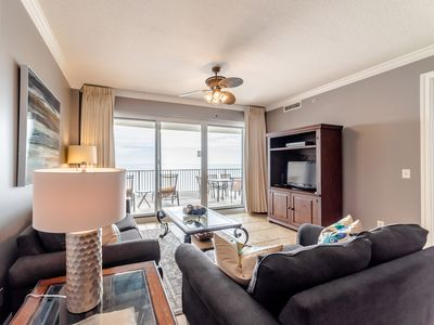 Photo for Beachfront Condo with Private Balcony, Wet Bar, and Updates Throughout