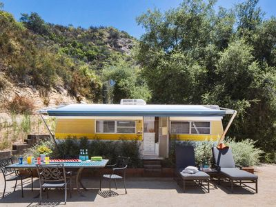 Photo for Glamping! Hip Retro Trailer in the Heart of Topanga