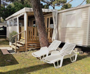 Photo for SUPERB MOBILE HOME IN CAMPING BONNE ANSES BEACH - PALMYRE