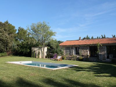 Photo for Mas in stone, quiet with pool, in the heart of Lubéron