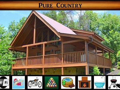 Pure Country} 1 Minute to Pigeon Forge\ Resort Pool Access\ Pool Table\ Hot Tub