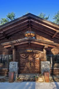 This is the front entrance. the doors are enormous hand carved 3D works of art.
