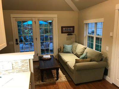 French doors lead to your private patio