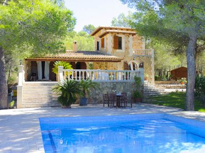 Photo for on the hill, in a quiet location, great villa with pool