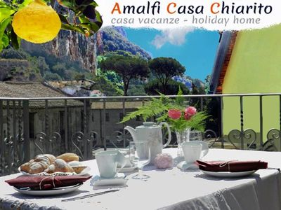Photo for IT IS A HOUSE LOCATED ON THE EDGE OF THE HISTORIC CENTER OF AMALFI WITH A LARGE GARDEN