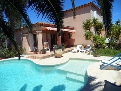 Photo for BORMES LES MIMOSAS - Quiet and residential situation. CLIM. VILLA SWIMMING POOL.