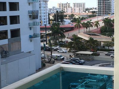 View from the balcony towards Hallandale Beach Blvrd
