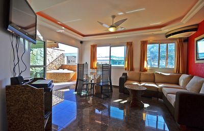 Photo for Nice penthouse with pool, close to the beach!