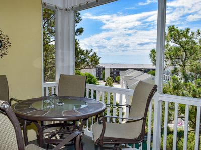 Photo for SHORT STAYS AVAILABLE. Gorgeous 3 Bedroom 2 bath Condo on the 4th floor with elevator. Sleeps 8. NON smoking, Outdoor pool, Fitness Room, no motorcycles, no pets.