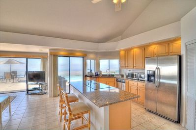 Full Gourmet Kitchen with all new high-end appliances and an amazing view.