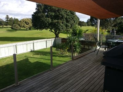 Photo for Large home overlooking Mount Maunganui Golf Course