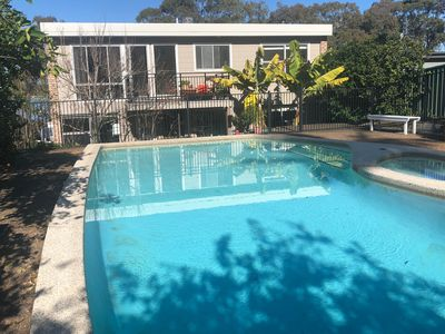Resort size pool. Spacious two storey four bedroom home