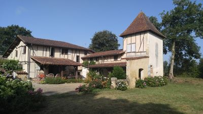 Photo for Beautiful home with private pool in bucolic setting close to medieval bastide