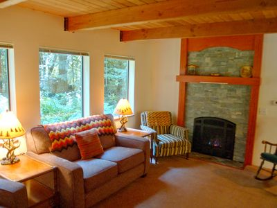 Photo for Mt. Baker Lodging – Cabin #67 – HOT TUB, FIREPLACE, BBQ, PETS OK, D/W, SLEEPS-5!