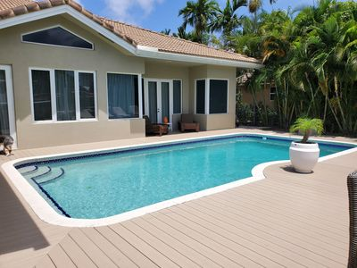 Photo for Tropical Estate On The Water. 5 Bedrs/4 bathrs Sleeps 10