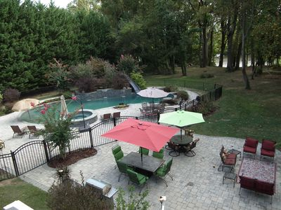 Large patio with ample seating