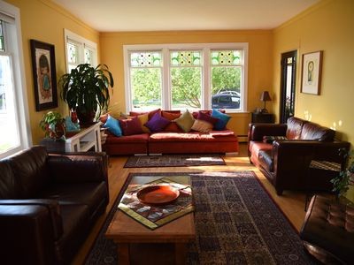 Photo for Bright 2 bedroom main floor suite in century old house