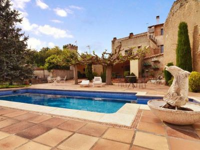 Photo for A jewel. Charming typical Catalan stone villa with pool and garden