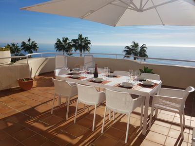 Photo for Exceptional view. . . 20m from the sea. . . with a terrace of 100m2!