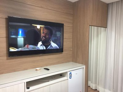 Photo for Luxury Flat with TV 55, SKY, Netflix and Balcony