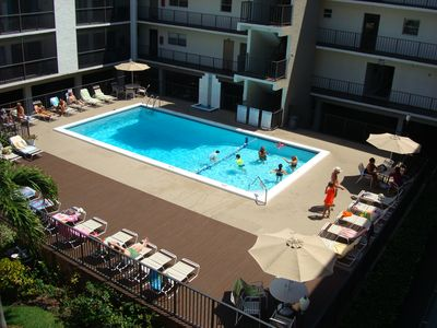 Photo for 1 block to the BEACH-527 CONDO -VIEW on the POOL-CAN SLEEP UP TO 4 ADULTS+ A BAB