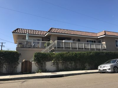 Photo for 1/2 Block to the Del Mar beach, room for 10 with Central Air. Kid & Pet Friendly