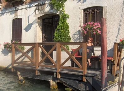 view of dock on Grand Canal just outside the bedroom suite