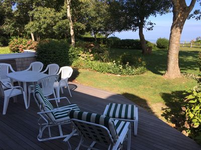 Back porch with view of Cape Cod Bay