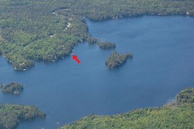 Ariel view of cottage
