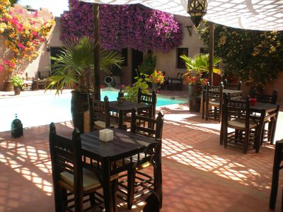Photo for Riad of charm any comfort with swimming pool without opposite and big sported garden.