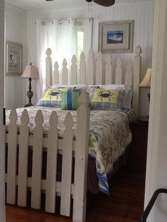 Custom Made Queen Sized Picket Fence Bed With Frame