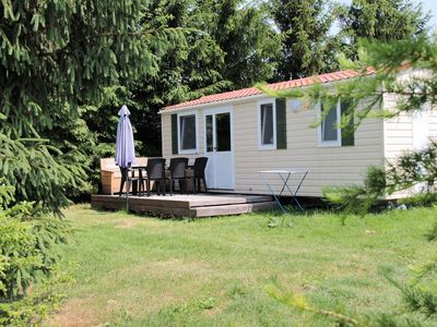Photo for A small mobile home in the campsite, animation, pool, beautiful location
