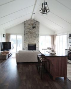 Lovely high vaulted ceilings for country charm