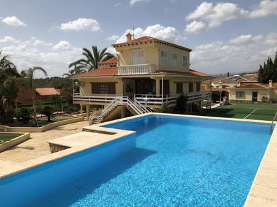 Photo for Private 6 Bedroom House with WIFI, Private Pool and Tennis Court
