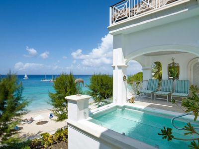 Photo for OLD TREES BARBADOS- PAYNES BAY BEACH FRONT VILLA WITH PLUNGE POOL