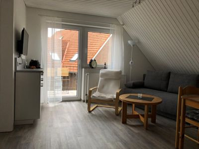 Photo for A nice place for Two: The upstairs apartment with their ca.