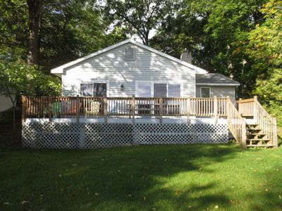 Photo for Recently remodeled spacious cottage on beautiful Green Lake in Interlochen