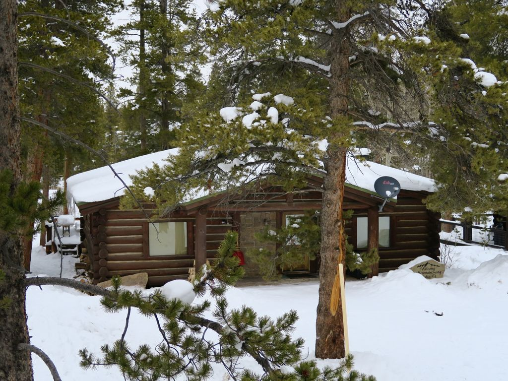 View Of Our Cabin During The Winter Months