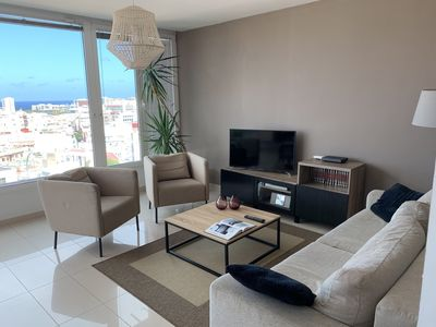 Photo for Comfortable apartment with views over the city
