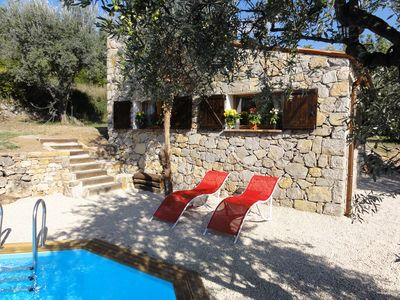 Photo for Provence Old Stone Detached Studio with Private Secluded Pool and Stunning views
