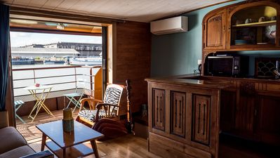 Photo for Charming cottages on a houseboat in Bordeaux
